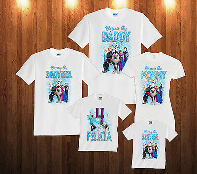 Personalized Custom Frozen Birthday T Shirt Family Party T-shirt