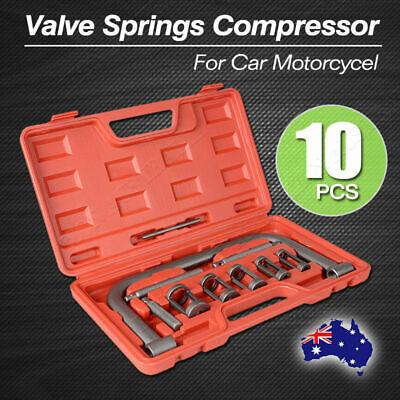 10pc Valve Spring Compressor Tool Kit for Car Motorcycle Petrol Engines AU Store
