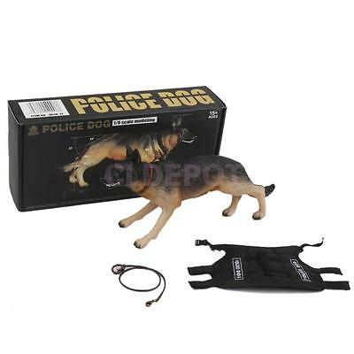 """1/6 Scale Rotated Head Resin Police Dog Shepherd Model For 12"""" Action Figure"""