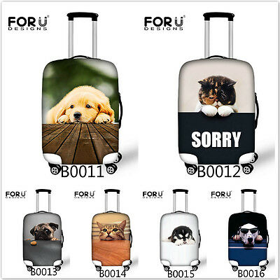 Travel Suitcase Luggage Cover for 18 20 22 24 26 28 30 inch Protective Cute Dogs