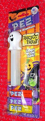 Pez Ghost  on Halloween card  Glow in the Dark
