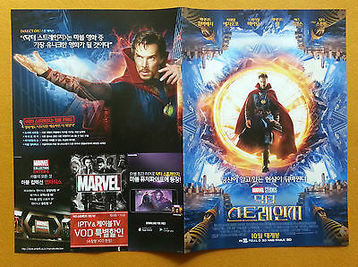 Doctor Strange 2016 Korean Mini Movie Posters Movie Flyers Ver.2 of 3 (4 Pages)
