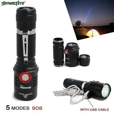 Skywolfeye 6000 Lumens 5 modes CREE XML T6 LED 18650 Lampe poche Lampe torche AF