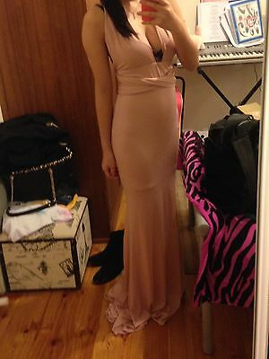 Mauve Halter Dress (formal Dress)