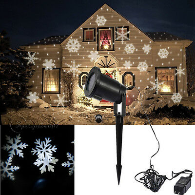Moving Sparkling Snowflake LED Landscape Laser Projector Wall  Xmas Party Light