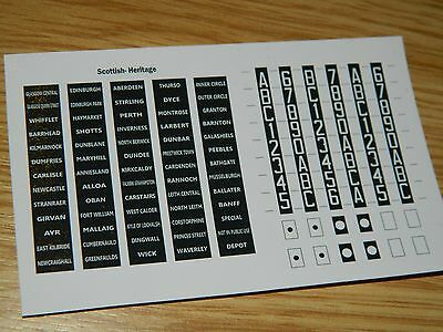 OO Gauge Scottish Heritage DMU Destination Blinds & Headcodes for Class 101-126