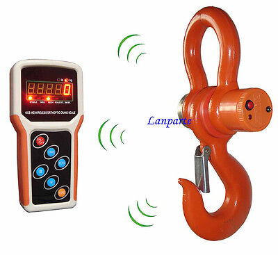 5T Digital Electronic Hanging Crane Scale With Wireless Handheld Meter 5000KG
