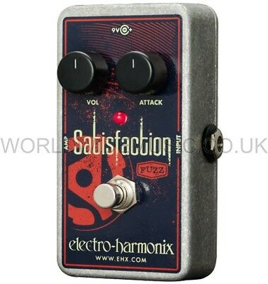 EHX Electro Harmonix Satisfaction Fuzz Guitar FX Pedal with true bypass