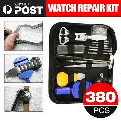 380 Watchmaker Horologe Watch Link Pin Remover Case Opener Repair Tool Kit Set