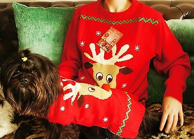Dog & Owner Matching Christmas Jumpers Festive Matching Xmas Dog Sweaters