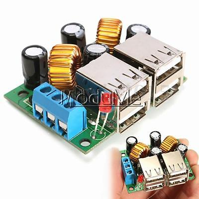 Car Charger Step-Down DC 12V 24V 40V-5V 4-USB Power Module for MP3 Phone GPS MO