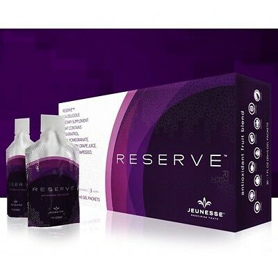 2 X Jeunesse (RESERVATROL) RESERVE Anti-oxidant Fruit BLEND Gel 30 GEL PACKS NEW