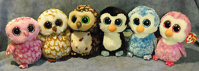 W-F-L TY Beanie Boos Glubschis Pinguin Eule Auswahl Stofftier