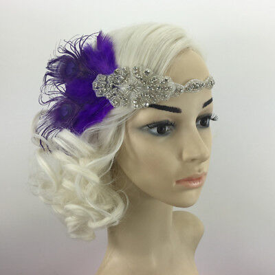 Fashion Hairband Great Headband with Vintage Feather 1920s Headpiece Flapper