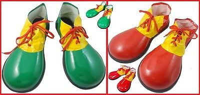 JUMBO Adult CLOWN SHOES Funny Funky Circus Carnival Costume Party Green Yellow