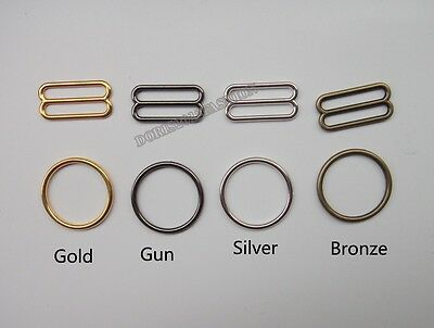 Wholesale Metal Bra strap Adjustment slide Rings Hooks Figure O89 4color 25mm 1""