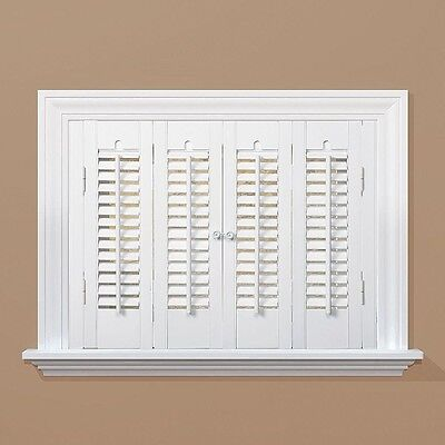 Traditional Real Wood Snow Interior Shutter (Price Varies by Size) window home
