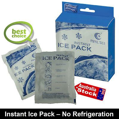 10 x INSTANT COLD PACK DISPOSABLE ICE PACKS SPORTS INJURY PAIN RELIEF FIRST AID