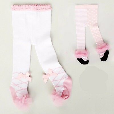 baby infant girls cotton soft princess lace spring fall pantyhose tights