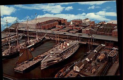 New York USA ~1960 Overall Model of the South Street Model Seaport Museum Ship