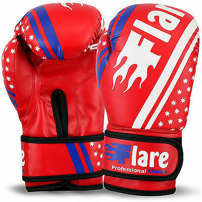 Kids Boxing Gloves Sparring Mitts MMA Punch Bag Training Unisex Size 4oz - 6oz