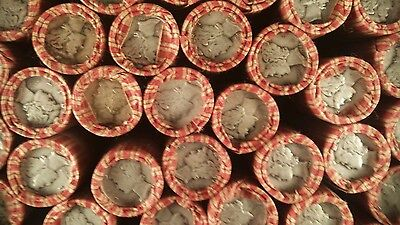 Unsearched Lincoln Wheat Penny Roll With Mercury Dime & Indian Head Cent Ends