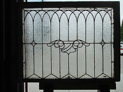 ANTIQUE AMERICAN STAINED GLASS WINDOW 40.25 x 31.25 ~ ARCHITECTURAL SALVAGE ~
