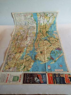 1956 Aaa Official Road Map Of New York City & Vicinity American Automobile Asso