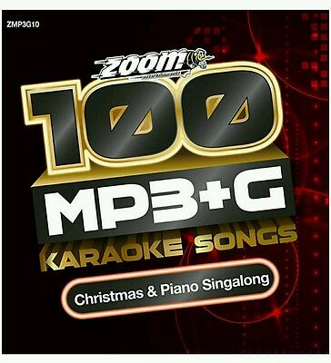 Zoom Karaoke MP3+G Disc - 100 Songs - CHRISTMAS & PIANO SINGALONG   Brand New