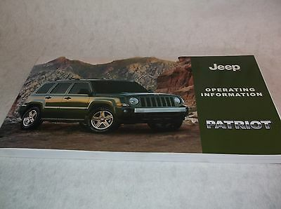 NEW Genuine Jeep Patriot Owners Handbook Service Book