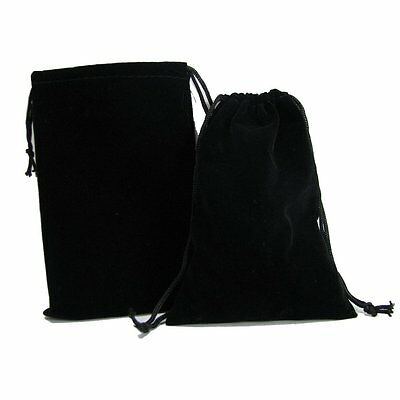 """New 50 Black Velvet Square Jewelry Packaging Pouches Gift Bags Wedding 5"""" x 8.5"""""""