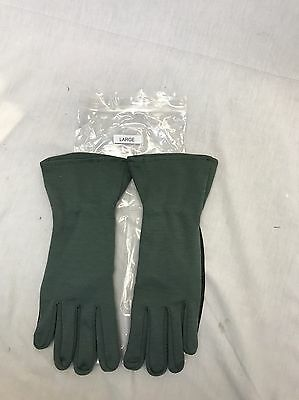 USGI Nomex Pilot flight gloves Sage Black L Large Aviation SEALs Navy Air Force