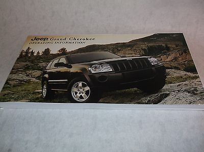 NEW Genuine Jeep Grand Cherokee WH Owners Handbook Service Book