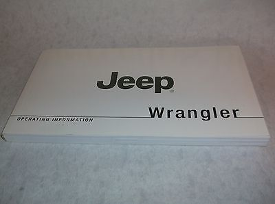 NEW Genuine Jeep Wrangler TJ 2008 Owners Handbook Service Book