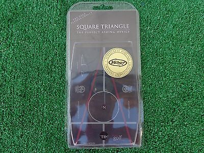 Square Triangle The Perfect Aiming Device Putting Improvement Training Aid NEW