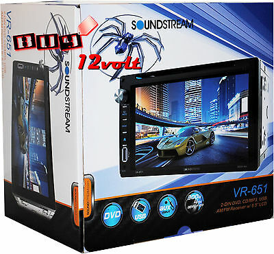 "SoundStream VR-651 2-Din 6.5"" LCD Multimedia Touchscreen Receiver"