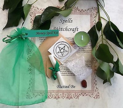 Money  Spell Kit  Votive Candle  Magic Wicca Created by a Witch