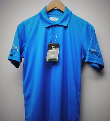 New Youth XL On Tour Web Tech short sleeve golf polyester polo shirt blue