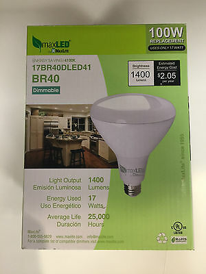 Maxlite Maxled 17Br40Dled41 1400 Lumens 17 Watts Dimmable Led Bulb Free Us Ship