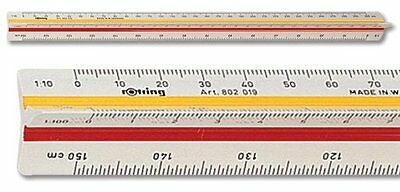 Rotring Ruler Triangular Reduction Scale 1 Architect S0220481-New