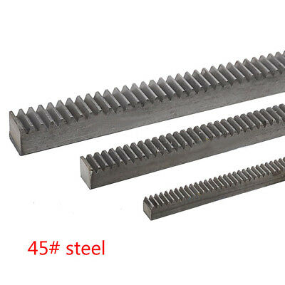 2Pcs 1.0Mod 12*12*1000mm Gear Rack 1.0 Module 45# Steel Heavy Duty Gear Rack