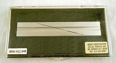 EDITALL S-3L Segway Splicing Block for 1/4in Audio Tape - New, Free Shipping