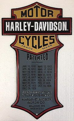 Ande Rooney HARLEY DAVIDSON PATENTED Tin HD Motorcycle Garage Man Cave Sign