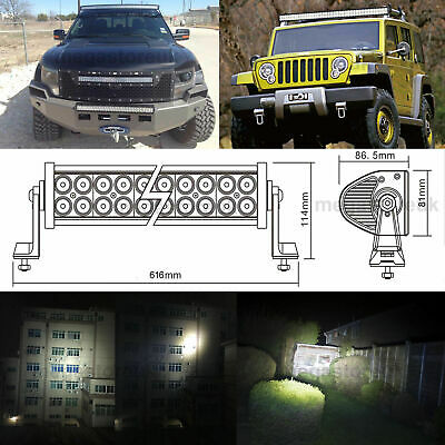"120W 24"" LED Light Bar Spot+Flood Work Lamp Offroad 4x4SUV,Recovery PICKUP Truck"