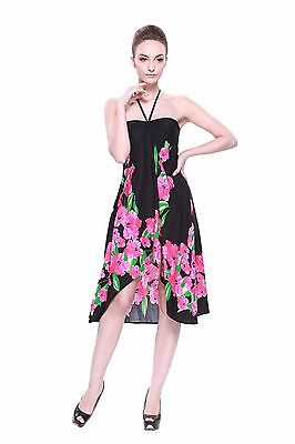 2b360e3271b Hawaii Hangover Exclusive Hawaiian Butterfly Dress Luau Cruise in Black  Pink BDR