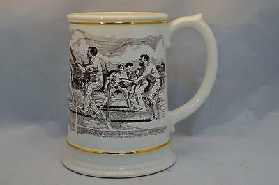 Franklin Porcelain Cricket The Ashes Centenary Tankard 1882 - 1982 Large
