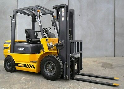 New Victory VF25D - 2.5 Tonne Diesel Forklift - Container Mast, Sideshift,