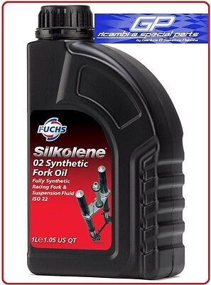 1 Litro Olio Silkolene 02 Synthetic Fork Oil Full Synt. Per Moto Enduro