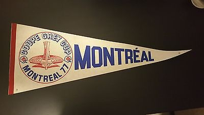 Rare 1977 Grey Cup Pennant - CFL - Montreal Alouettes Olympic Stadium