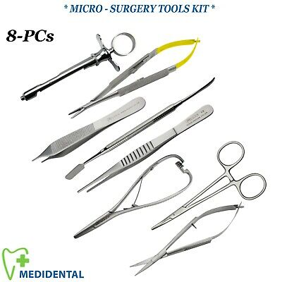 Microsurgery Kit Set Of Castroviejo+Spring Noyes Scissors Microsurgical Tools